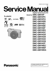 Panasonic Lumix DMC-GM1 GM1K GM1W Service Manual & Repair