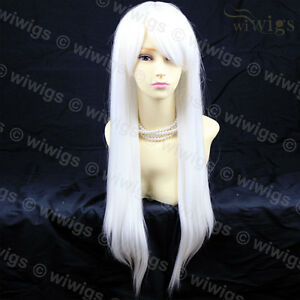 wiwigs long snow white straight skin top cosplay heat resistant la s wig