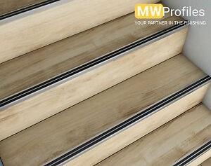 15 X Aluminium Stair Nosing Edge Trim Step Nose Edging Nosings | Carpet Stair Nosing Metal | Anti Slip Stair | Laminate Flooring | Edge Trim | Edging Nosings | Inserts