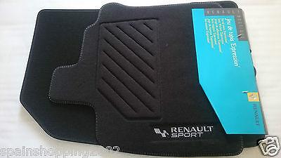 4 textile floor mats renault sport clio iii 3 rs gt original oem white couture ebay