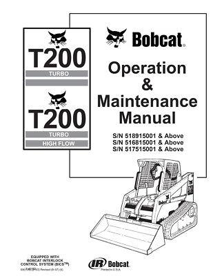 New Bobcat T200 Turbo & Highflow Operation & Maintenance