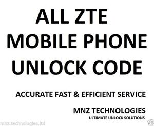 Unlock Code T-Mobile ZTE MF96 LTE 4G WiFi USB Mobile