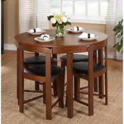 Oak Kitchen Table Sets Printer 5 Piece Dining Set Wood Room 4 Chairs Compact Image Is Loading