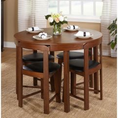Chairs For Kitchen Table Red And White Canisters Small Dining Set Compact Round Wood 4 Modern 5 Piece Oak Room Furniture