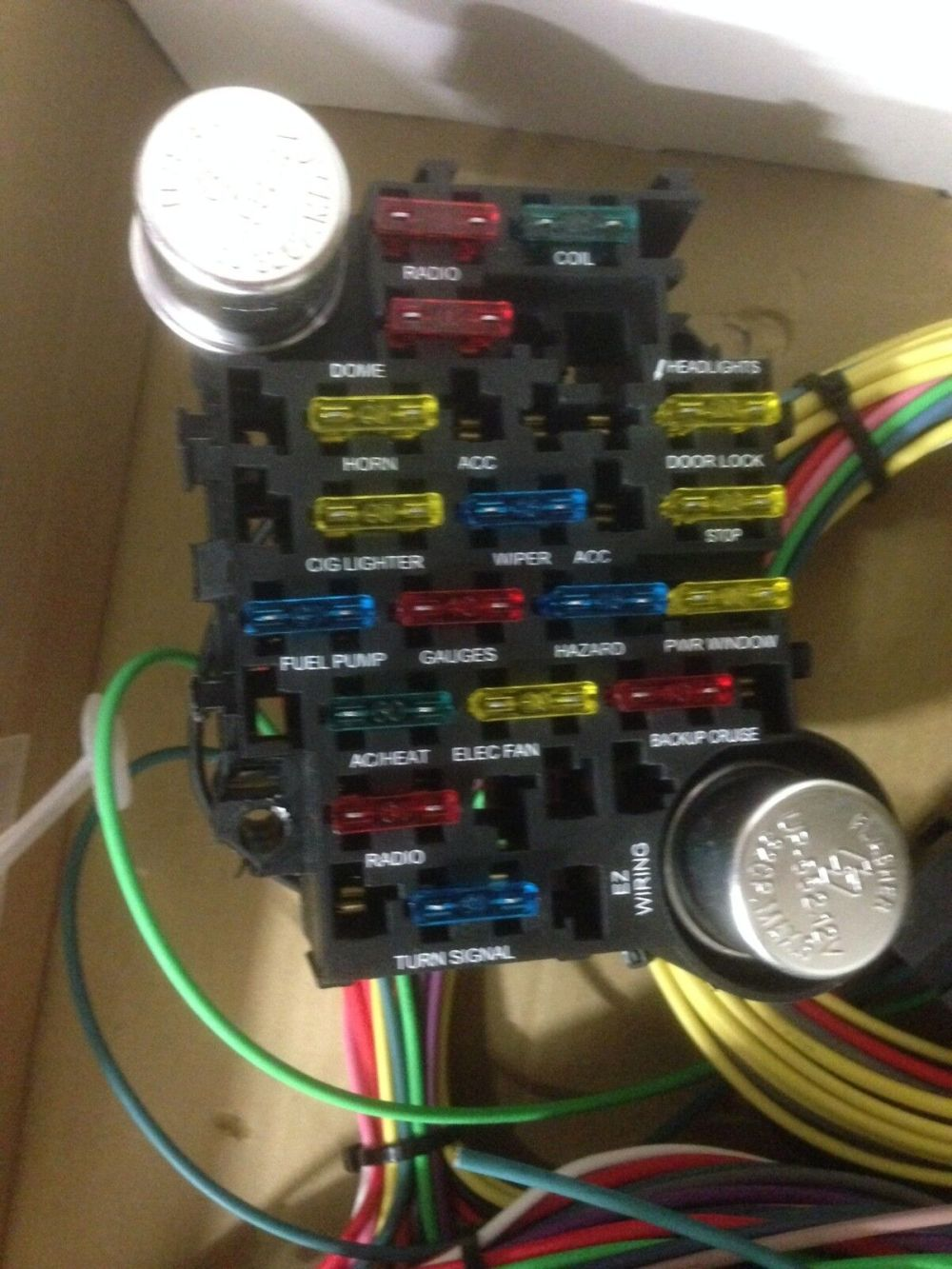 medium resolution of 21 circuit 17 fuses ez wiring harness chevy mopar ford hot rod universial wires