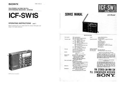 SONY ICF-SW1 OPERATING INSTRUCTIONS and SERVICE MANUAL