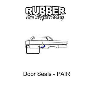 1963 1964 1965 Ford Falcon Mercury Comet Door Seals Pair