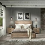 King Wood Bed Frame Rustic Brown Bedroom Furniture Footboard Headboard Solid For Sale Online Ebay