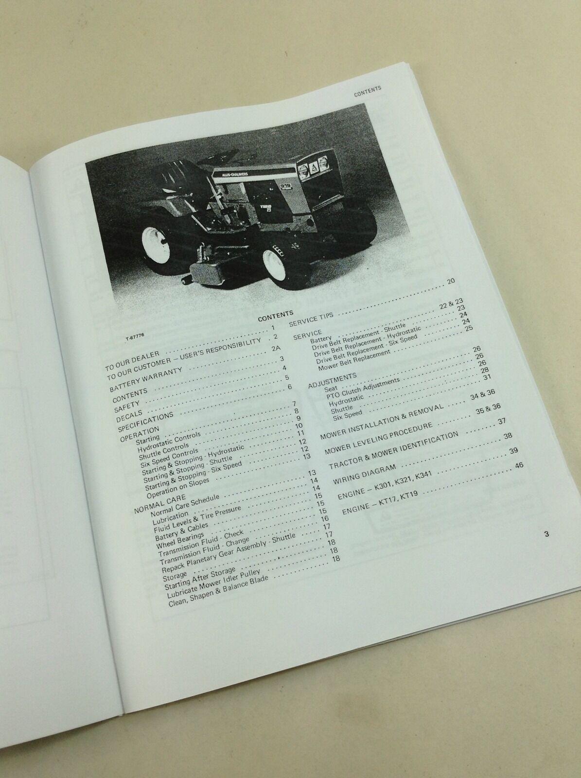 deutz 914 wiring diagram 1997 ford escort and allis chalmers 914s 914h 916h 917h 919h lawn garden