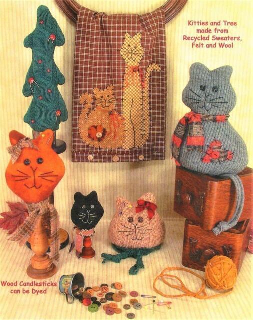 Cat Sweater Pattern Sewing : sweater, pattern, sewing, Sweater, Kitties, Pincushions, Sitting, Kitty, Appliques, Sewing, Pattern, Online