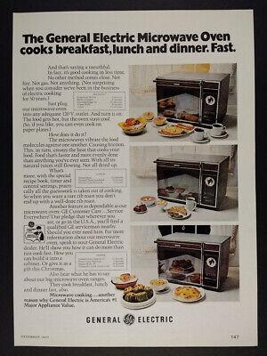 1973 ge general electric microwave oven vintage print ad ebay