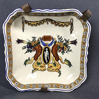 coupe carre en faience de gien modele renaissance signature 1875 1935 ebay