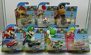 Super Mario Bros Hot Wheels Character Cars Complete Set Of 7   eBay