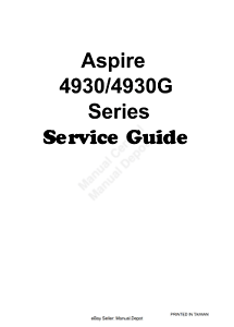 ACER ASPIRE 4930 4930G LAPTOP SERVICE WORKSHOP GUIDE
