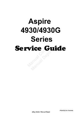 ACER ASPIRE 4930 4930G LAPTOP SERVICE WORKSHOP GUIDE