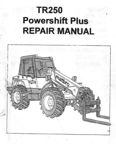 Matbro TR250 Workshop Manual Handbook on CD TR 250 Turbo