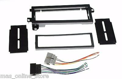 SINGLE DIN CAR STEREO RADIO DASH KIT & WIRE HARNESS FOR