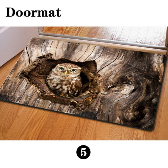 owl kitchen rugs latest gadgets brown personalized floor funny doormat carpet rug indoor bedroom mat