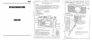 Repair Instructions Leica M3 as a PDF file on CD-ROM