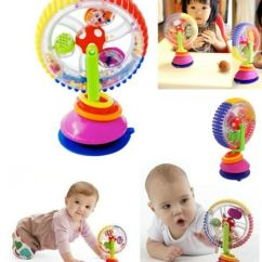 High Chair Suction Toys Metal And Wood Baby Kid Child Sassy Rainbow Observe Ferris Wheel Rattle Toy