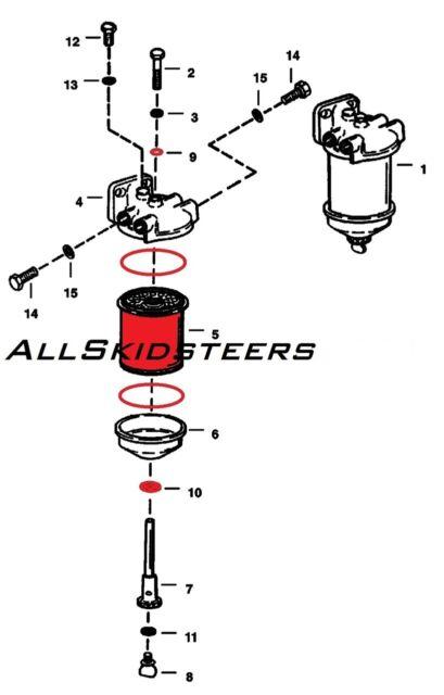 For Bobcat Diesel Fuel Filter 443 453 543 553 Skid Steer