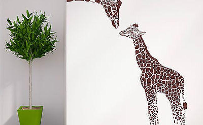 Giraffe And Baby Giraffe Wall Art Room Sticker Vinyl Decal