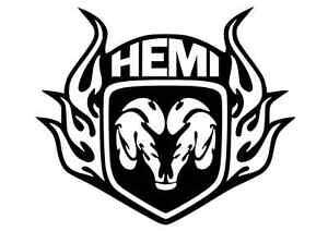 DODGE TRIBAL RAMS HEAD HEMI VINYL DECAL STICKER 12