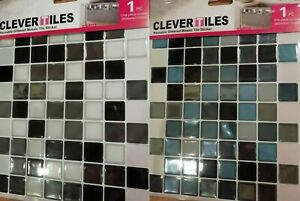 details about 3d gel self adhesive mosaic tile sticker sheets silver black blue clever tiles