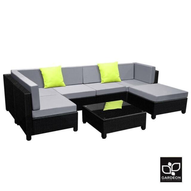 gardeon ff miami bk abcd outdoor wicker patio sofa set 6 piece