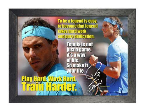 rafael nadal 25 spanish tennis player poster sport signed motivation quote photo antiquitaten kunst scribeemr kunst