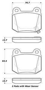 Disc Brake Pad Set-Street Brake Pads Rear Stoptech 308