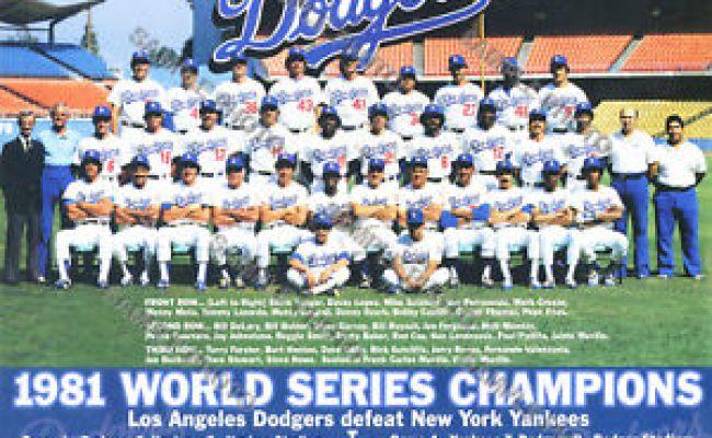 1981 Los Angeles La Dodgers World Series Champions 8x10