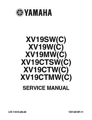 New Yamaha Roadliner Stratoliner Service Manual 2007