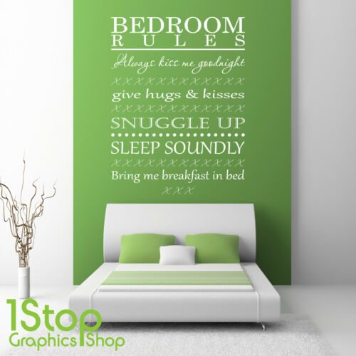 Home Decor Bedroom Rules Wall Art Decal X345 Bedroom Wall Sticker Quote Golfhubcentralcoast Com Au