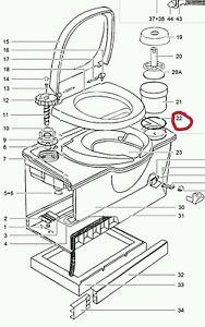 thetford cassette toilet O-ring/seal toilet roll holder
