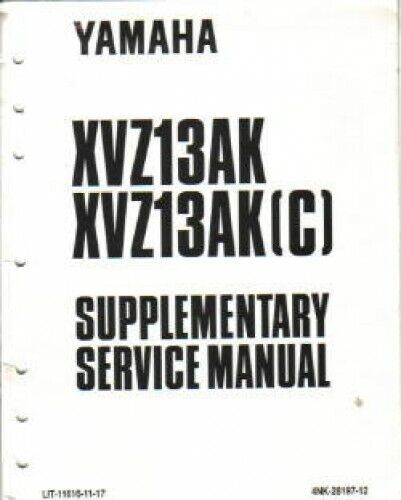 1998-2001 Yamaha XVZ13 Service Manual Supplement : LIT