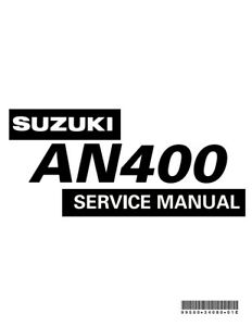 SUZUKI AN400 K3 2003 WORKSHOP SERVICE MANUAL REPRINTED