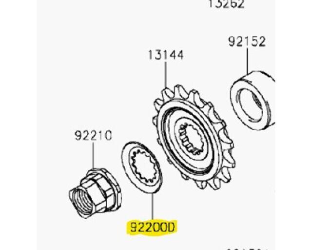 Kawasaki OEM Front Sprocket Washer 92200-0851 KLR650