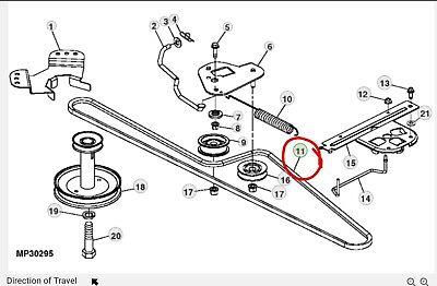 John Deere transmission drive belt GX20006 D110 D120 D130