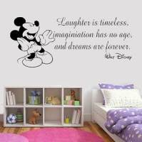 Disney Style Quote Mickey Minnie Vinyl Wall Art Sticker ...