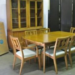 6 Chair Dining Set Christmas Back Covers Uk Circa 1962 Drexel Meridan Table 2 Leaves Chairs Image Is Loading 034