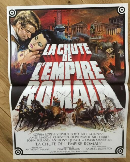 Film La Chute De L'empire Romain : chute, l'empire, romain, CHUTE, L'EMPIRE, ROMAIN, ANTHONY, AFFICHE, 40x60, SOPHIA, LOREN