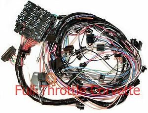 1976 corvette dash wiring diagram clarion dxz375mp harness for vettes with automatic image is loading