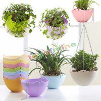 Colorful Plastic Flower Pots Hanging Balcony Garden Plant ...