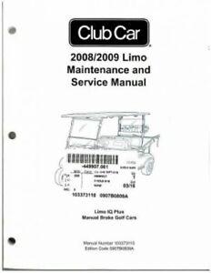 2008-2009 Club Car Limo IQ Plus Manual Brake Golf Cart