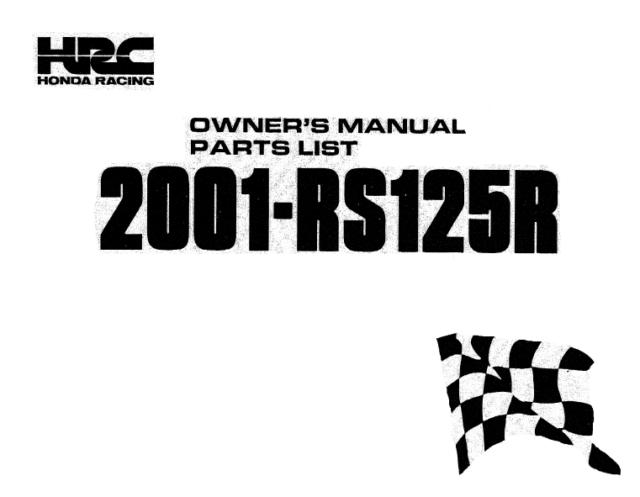 workshop manual Honda RS 125 R NX4 service and repair