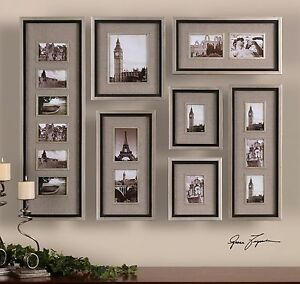 LARGE SET OF QUALITY PICTURE PHOTO WALL FRAMES COLLAGE ART