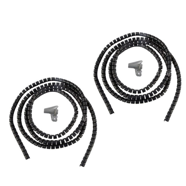 2xDia 10mm Spiral Wrap Wiring Loom Harness Cable Wire