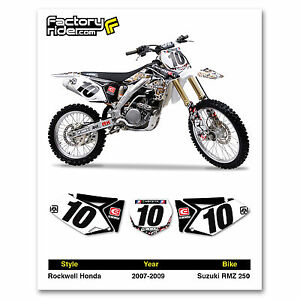 2007-2009 SUZUKI RMZ 250 Team Rockwell Graphics Dirt bike