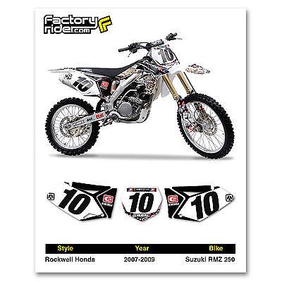 2007-2009 SUZUKI RMZ 250 Team Rockwell Graphics Dirt bike